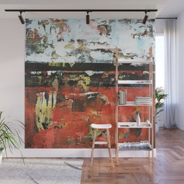 Jacksonville Orange Abstract Painting Wall Mural
