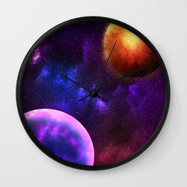 Cosmic Planets Wall Clock