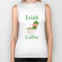 irish Biker Tanks featuring Irish Coffee by Supergna