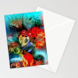 Coral Reef Red 444 Stationery Cards