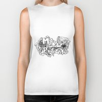 movies Biker Tanks featuring Movies and Pizza by Sabrina B