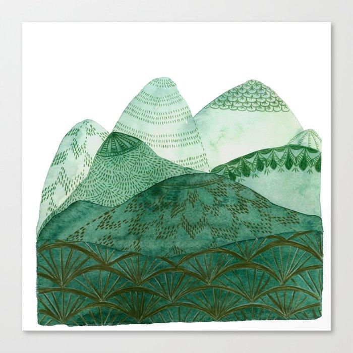 Green Mountain Dreaming Canvas Print