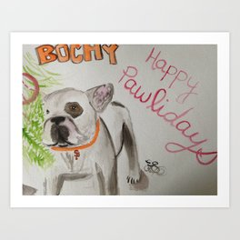 Bochy the frenchie Art Print