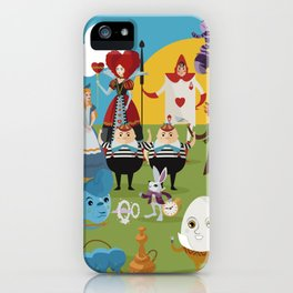 alice in wonderland collection iPhone Case