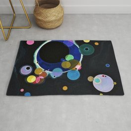 Planets & Moons (Several Circles) by Wassily Kandinsky Rug
