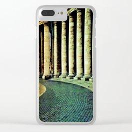 Columnata de San Pedro - Vaticano Clear iPhone Case