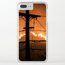 Hot Line Clear iPhone Case
