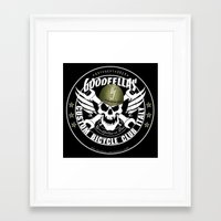 goodfellas Framed Art Prints featuring Goodfellas Custom Bicycle Brigade - SUPPORTERS ARMY by Goodfellas Custom Bicycle Brigade