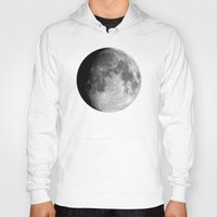 the moon Hoodies featuring Moon by Alejandro de Antonio Fernández