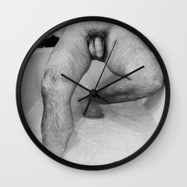 Male Descending Wall Clock