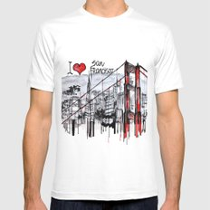 I love San Francisco  2X-LARGE White Mens Fitted Tee