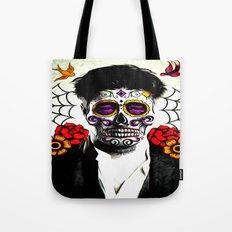 Musician Sugar Skull Painting Tote Bag