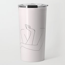 Woman's crossed arms line drawing - Anna Natural Travel Mug