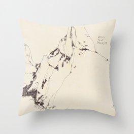 Yosemite Glacier Point Drawing Throw Pillow