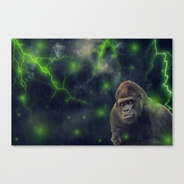 ThunderStorm Gorilla by GEN Z Canvas Print