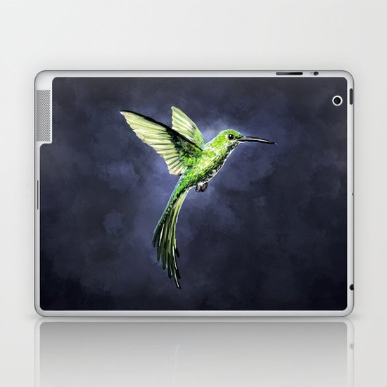 Green Hummingbird Laptop & iPad Skin