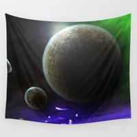 ace Wall Tapestries featuring Space Ace by mystmoon