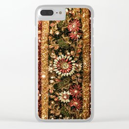 Beaded Indian Saree Photo Clear iPhone Case
