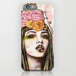 modern bohemian art heavily meditated iPhone Case