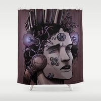 gamer Shower Curtains featuring Gamer  by Art is Vast
