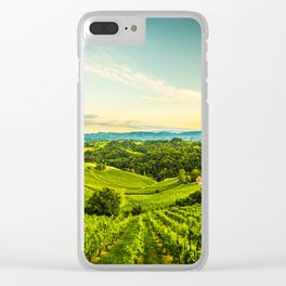 Vineyards landscape panorama. South Styria, Austria Clear iPhone Case