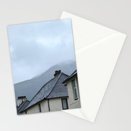 Fort William aesthetic homes with Ben Nevis in the background Stationery Cards