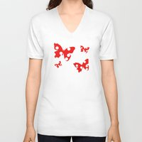 polka dot V-neck T-shirts featuring Polka dot by Bubblemaker