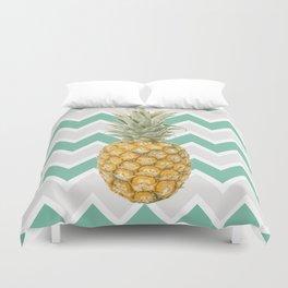 Pineapple & turquoise , Duvet Cover