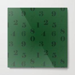 green numbers Metal Print