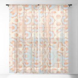 Pastel Retro Decor #society6 #buyart Sheer Curtain