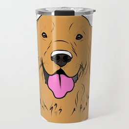 Smiling Golden  Travel Mug