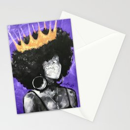 Naturally Queen II PURPLE Stationery Cards