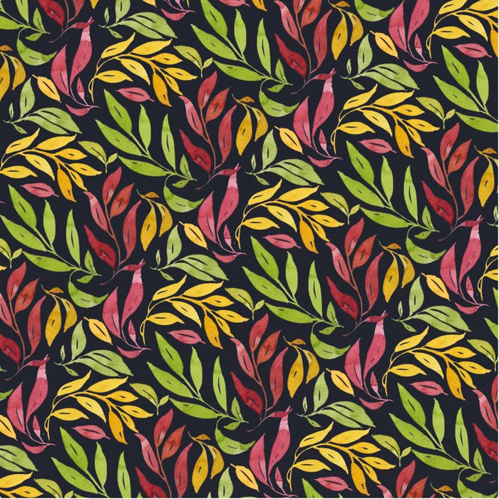Loose Leaves - warm colors Comforters