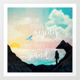I Make Myself Stand - THG Art Print