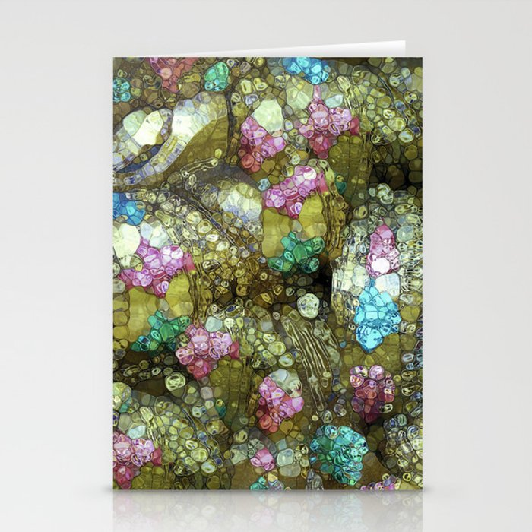 Gems, Glitter & Gold Stationery Cards