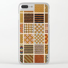 Egyptian Patterns, Vintage Design Clear iPhone Case