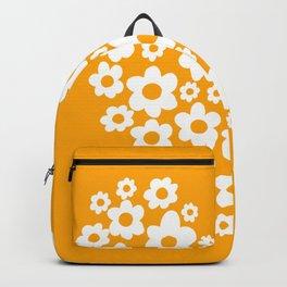 Floral Heart - Orange Backpack
