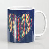 interstellar Mugs featuring Interstellar Heart by VessDSign
