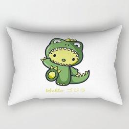 Hello Godzilla Rectangular Pillow