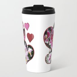 Hearts and Orchids Travel Mug