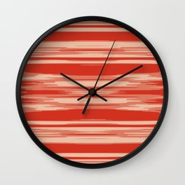 Red Abstract Linear Minimal Pattern Wall Clock