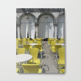 Cafe No. 1-Piazza San Marco in Venice (2009a) Metal Print