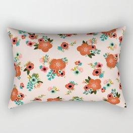 Floral Parade - Blush Rectangular Pillow