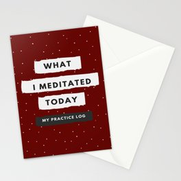 What I meditated today (notebook) Stationery Cards