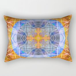 Four Directions Ancient Cross Psychedelic Geometric Rectangular Pillow