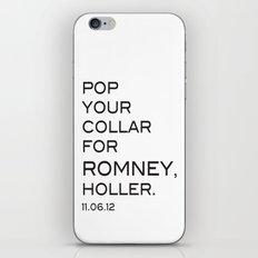 Pop your collar iPhone & iPod Skin