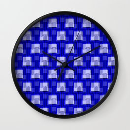 Sharp Interlock - true blue Wall Clock
