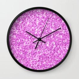 Elegant modern pink glitter Wall Clock