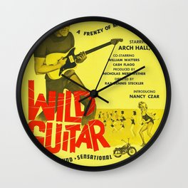 Vintage Film Poster for - Wild Guitar (1962) Wall Clock
