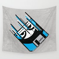 data Wall Tapestries featuring Bad Data: Free Fall  by Bad Data